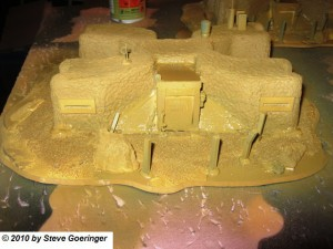 Primed Imperial Guard Command Post on 40k Terrain 300x225 40k Terrain    Imperial Guard Command Post Almost Done