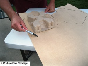 Tracing MDF Bases for Warhammer Scenery 300x225 40k Terrain Imperial Guard Command Posts