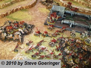 Nids and Dark Angels on Craters 300x224 40k Terrain Ideas for Blast Markers